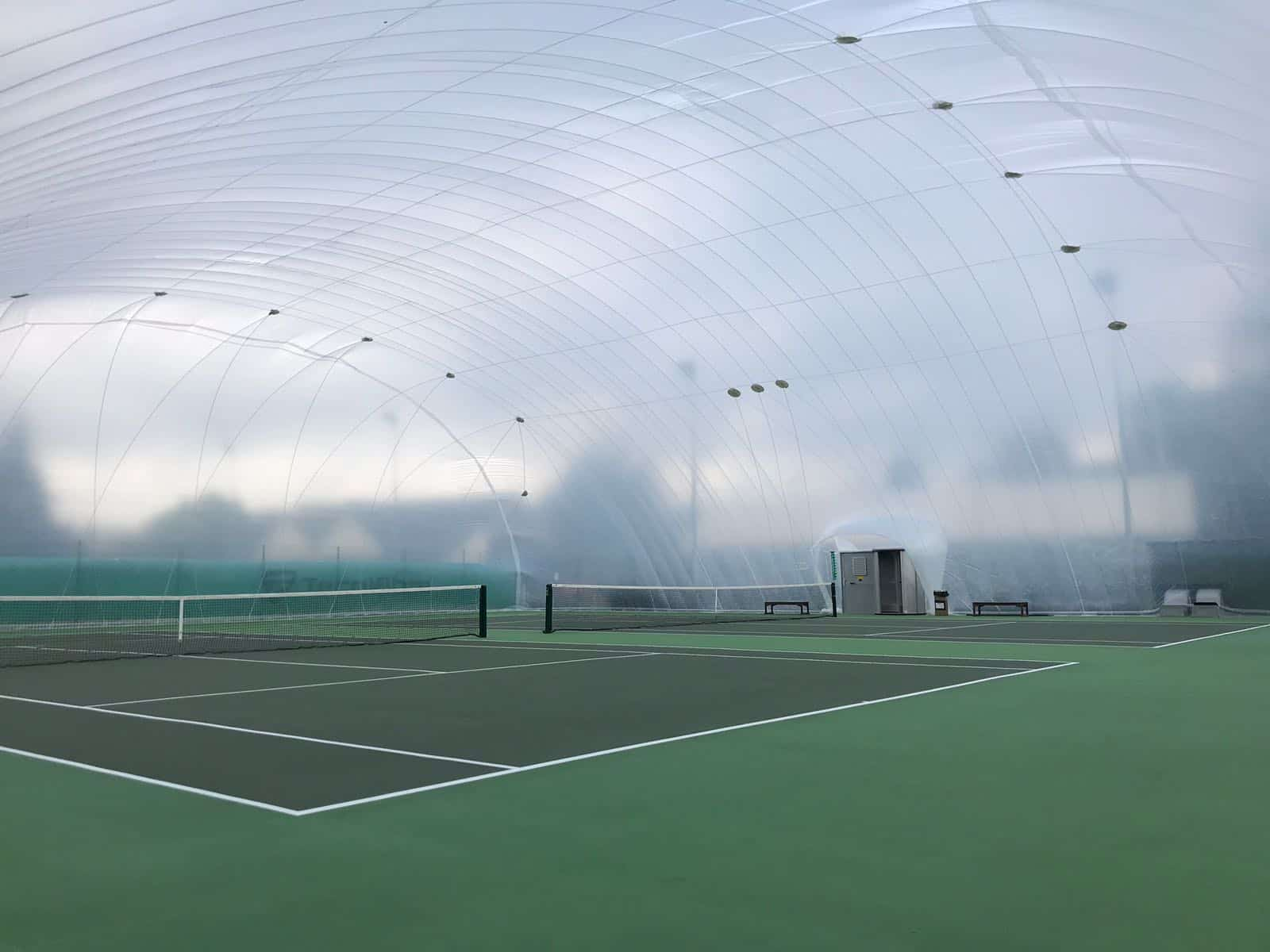 inflatable tennis structure
